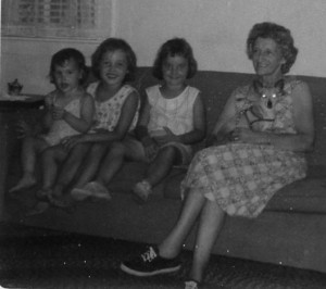 Debbie, me, Susan and Grandma Amelia