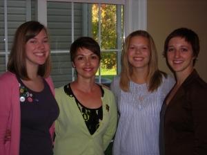 Sacha, me, Libby and Amanda
