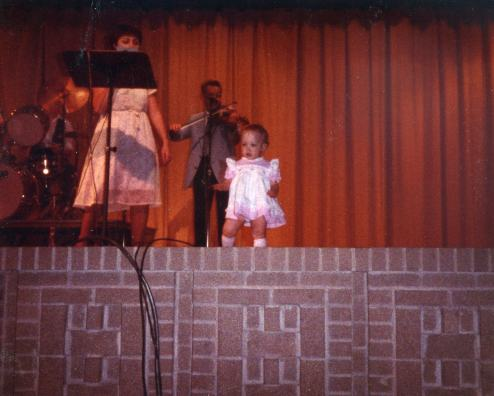 Amanda at age 2... upstaging us all!