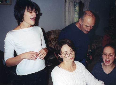 My sister, Heather, me, my Dad and Amanda -- 1996 or 1997