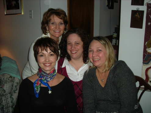 Me and my sisters-in-law, Marty, Lucy and Yvette