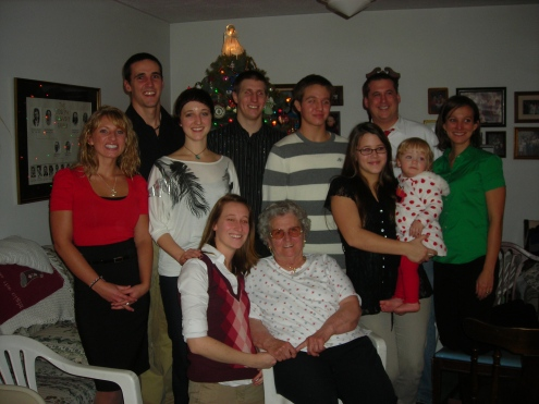 Grandma O. and a few of her grandchildren
