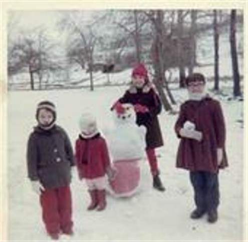 Debbie, Esther, Snowwoman, Me and Susie