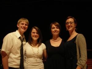 Josh, Mariah, me and Amanda