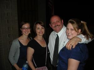 my daughter, Amanda, me, Paul Seymour and his daughter, Devon