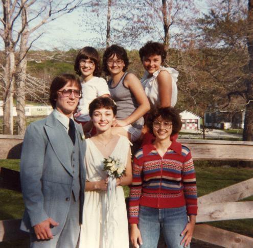 May 16, 1980 -- Dan, me, Debbie (back) Heather, Esther, Susan