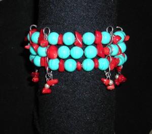 Memory Wire Turquoise Bracelet