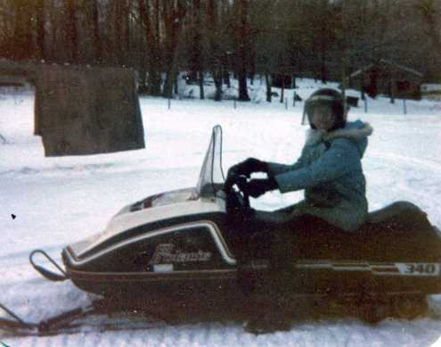 Fearless Grammy -- on DannyO's snowmobile