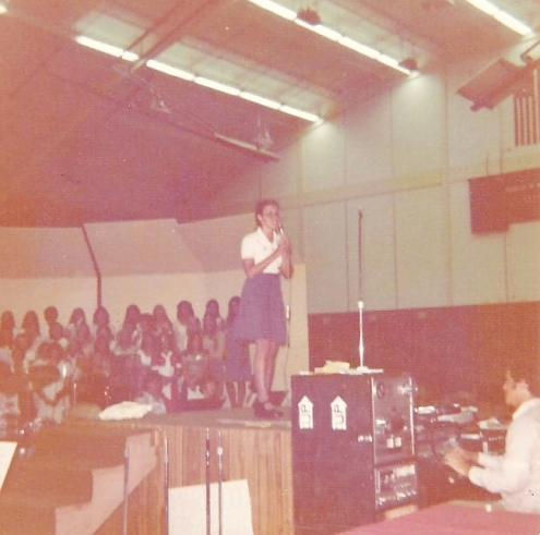 Singing at Youth Conference - 1976