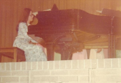 Playing the piano at Central Cambria High School in 1977