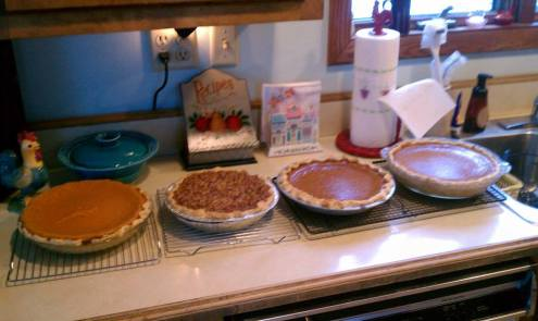 Pies -- they were scrumptious!!