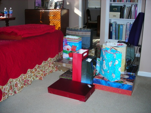 My very large pile of presents.