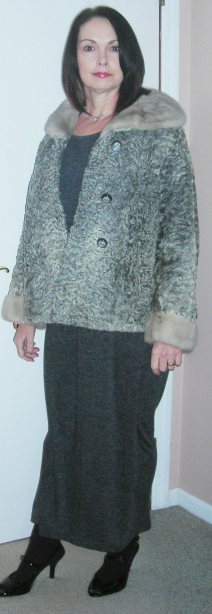 I just added my vintage curly mink coat for fun