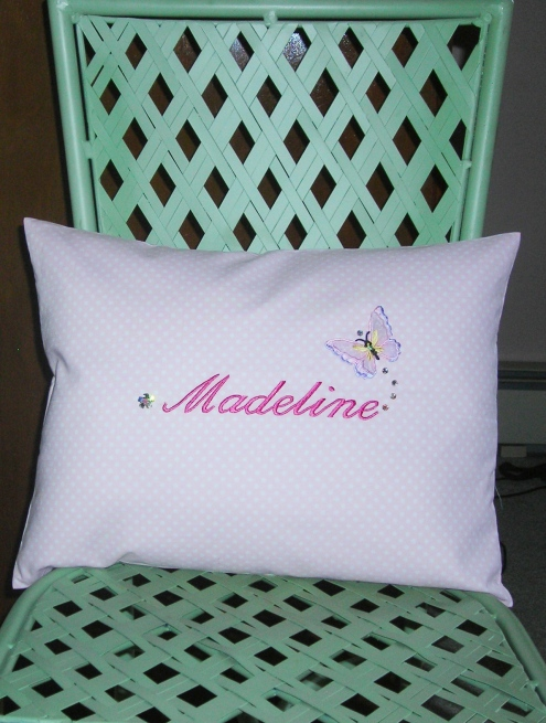 Madeline's pillow