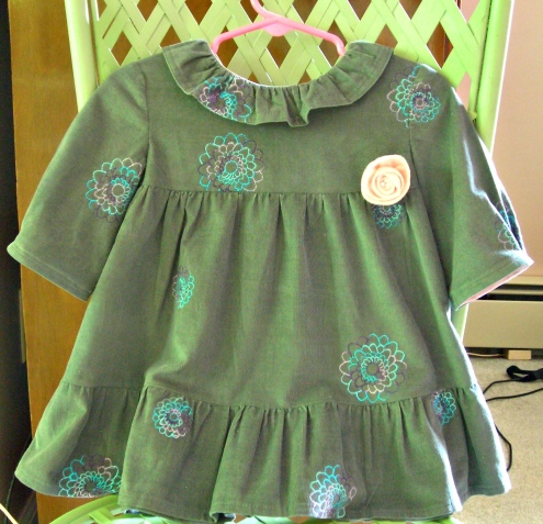 Sweet corduroy dress
